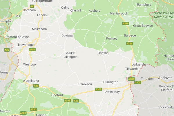 Map of Wiltshire Working Locations